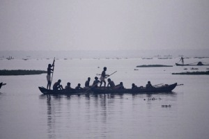 Fishermen returning with their catch - Backwaters, Kerala