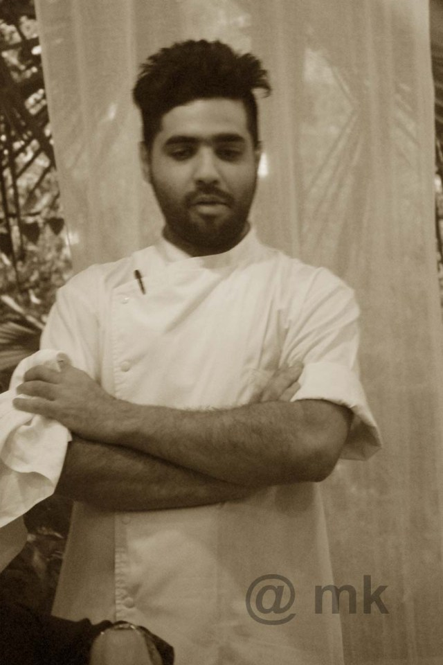 Chef Dhruv Oberoi ... charmed us with his enthusiasm and of course his food!